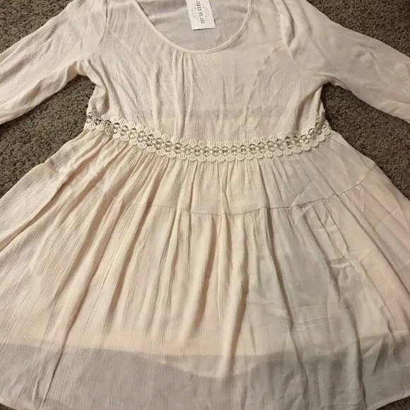 Filly Flair Dresses & Skirts - Filly Flair Ivory Partially Lined Dress Sz L New